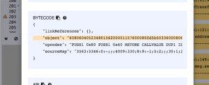 Il ByteCode da utilizzare è quello inserito all'interno delle virgolette