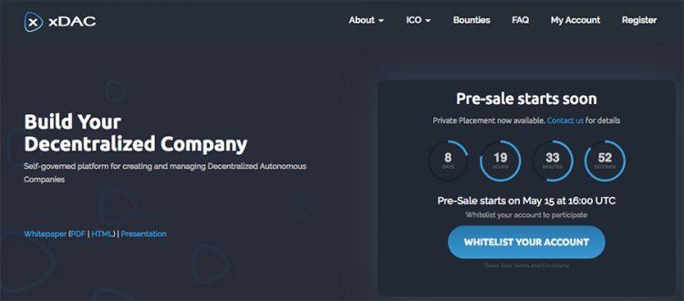 xDAC, Costruisci su blockchain la tua società decentralizzata